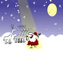 babbo Natale che canta con il coro di renne