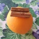 Segnaposti natalizi all'arancia e cannella