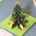 Un albero di Natale di origami