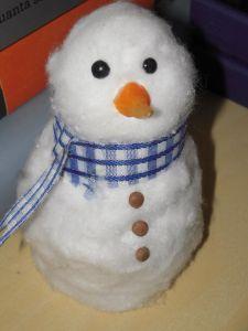 Un pupazzo di neve fai da te