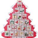Un albero di Natale come calendario dell'Avvento