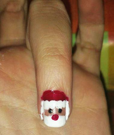 Nail art natalizia: Babbo natale